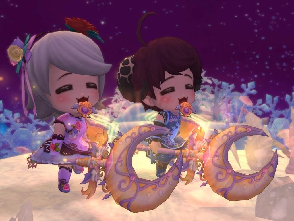 《晴空物语》收集节庆宠物,法杖 与嫦娥姐姐共度中秋