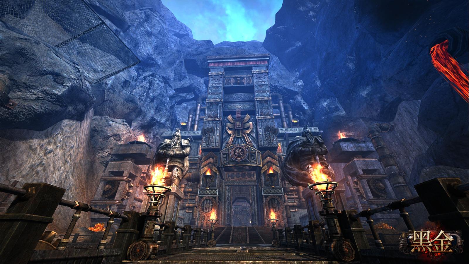 《黑金》採原廠自製的Flexi引擎開發,Flexi引擎過去曾在業界獲得多項大獎,並為線上武俠遊戲大作《九陰真經》打造出爛漫唯美的場景,在經過不斷優化後,強化版的Flexi引擎為《黑金》在物理碰撞擬真運算、實時光影渲染帶來更佳的表現。在遊戲裡,玩家隨時都能感受和環境之間的互動,例如角色跑過草地時,人物腳邊捲起的風會影響到周圍花草的擺動,絲縷陽光會隨著樹葉搖曳而改變在人物身上的投影,水面花紋亦會隨著場景中的氣流波動而有更自然逼真的呈現,細膩之餘,更具感染張力。