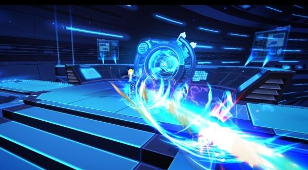 《王牌對決》近戰型英雄「天痕者」,可朝向敵方持續發射連打的衝擊波。